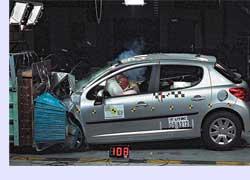В краш-тестах EuroNCAP Peugeot 207 выступил отлично. Во фронтальных и боковых столкновениях автомобиль заработал максимально возможные пять звезд. Защита детей оценена в четыре звезды, что тоже неплохо. Пешеходов 207-й «львенок» также щадит, его результат– три звезды из четырех максимально возможных.