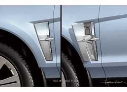Водителю непридется вспоминать, с какой стороны находятся разъемы для зарядки– они спрятаны в обоих передних крыльях.