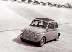 Fiat 500 Abarth на автодроме в Монце (1958 год)