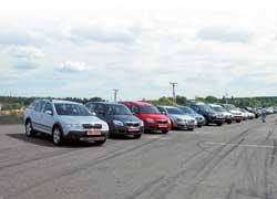 На автодроме «Чайка» под Киевом прошел ежегодный тест-драйв более сорока популярных автомобилей, организованный компанией «Евро Лизинг».