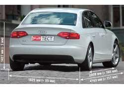 Сзади «четверка» копирует купе «пятерку», при этом седан заметно превосходит своих конкурентов по размерам, вплотную приблизившись к Е-классу.