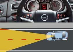 При отклонении от дорожной разметки система подает звуковой сигнал.