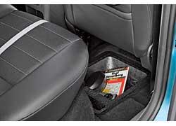 Для мелкой поклажи предназначен специальный отсек в полу за передним пассажирским сиденьем.
