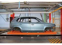 Технология окраски и сборки Hyundai Tucson уже отлажена, и скоро начнется промышленное производство.