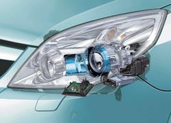 Современные светомодули оснащены механизмом изменения фокуса линзы и направленности светового потока для эффективного освещения поворотов и изгибов дороги. К сожалению, на вторичном рынке таких комплектов пока не предлагают.