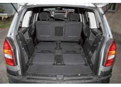 Из-за несъемных задних сидений при 2-местной конфигурации «немец» проигрывает и в максимальном объеме багажника.
