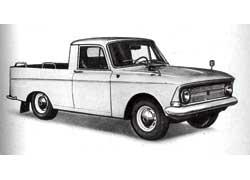 Развозной «Москвич»-пикап ИЖ-2715 выпускался в двух вариантах – с кузовом и фургон.