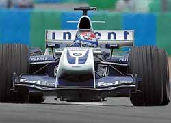 2001–2004: Williams, тест-пилот, 3 Гран-при, 4 очка
