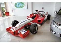 Формульный болид Geely GF выступает в монокубке Formula Geely.