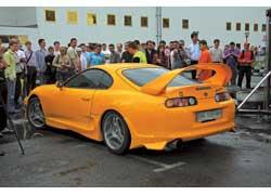 Toyota Supra – редкость сама по себе, а уж в хорошем тюнинге – тем более. Эта красавица приехала на шоу с юга Украины.