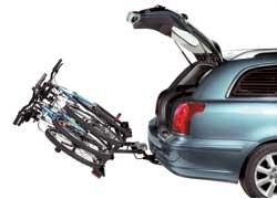 Для удобства перевозки велосипедов французский производитель багажных систем Automaxi разработал «трехместный» багажник Discovery Premium, крепящийся к стандартному фаркопу машины.