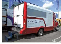 Развозной фургон на шасси ГАЗ-3310 «Валдай», предназначенный для работы в курьерских и почтовых службах