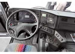 Минский автозавод представил на TIR-2007 сенсационную новинку – магистральный седельный тягач следующего поколения МАЗ-5440А9 (4х2) для работы в составе 40-тонных автопоездов.