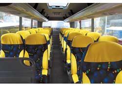 В салоне нового «туриста» «Богдан» А40160 – 30 комфортабельных сидений и вместительные багажные полки.