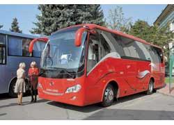 Компания «Авто-Сити» привезла китайские автобусы King Long. Мест – 39. Турбодизель Cummins или Isuzu, 250 л. с. (Евро 2).