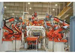 Сварочное производство JAC – царство роботов.