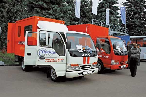 На украинском рынке первое место в сегменте легких импортных грузовиков удерживают китайские машины JAC 1020.