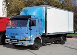 Изотермический фургон от «Мелос-Центр» на шасси автомобиля КАМАЗ-4308.