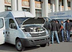 Стенд «Группы ГАЗ» открывали фургоны Maxus, которые с 2008 года будут собирать на Горьковском автозаводе.
