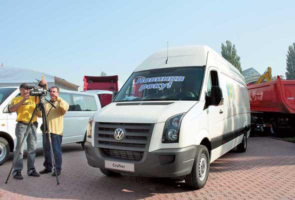 На выставке представлен новый фургон Volkswagen Crafter.