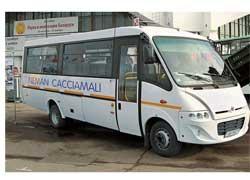 Белорусский опытный завод «Неман» (г.Лида, Гродненская обл.) в скором времени планирует начать лицензионную сборку автобусов от итальянского кузовного Cacciamali.