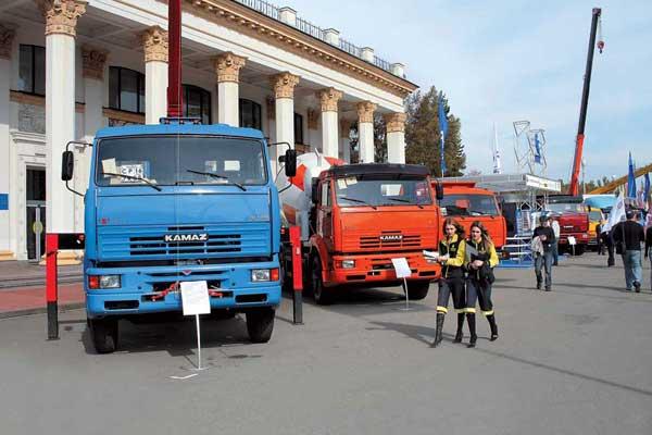 Экспозиция «КАМАЗ» на TIR'2007