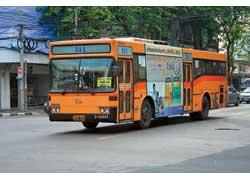 Широко распространены в Бангкоке городские автобусы марки Thonburi. Они построены на шасси Hino (на фото), Mercedes, Isuzu или Daewoo.