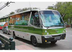 Небольшая фирма Strithepthai выпускает надстройки для пикапов, автолавки и небольшие туристические автобусы на различных шасси, в том числе Hino (на фото). Эта машина, судя по номерам с якорями, принадлежит тайским ВМС и возит почетный караул Королевского дворца.