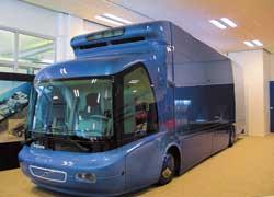 Будущее, рожденное вчера, – Volvo ECT (1995 г.). Аббревиатура ECT расшифровывается как Environment Concept Truck – «Экологически чистый концептуальный грузовик». Машина оснащена двигателем на топливных элементах.