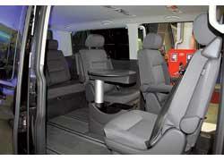 Volkswagen Multivan Long получил дополнительный ряд сидений.