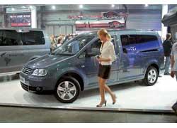 «Пирожок» Caddy Life Maxi отличается удлиненным на 47см, более вместительным 7-местным кузовом.