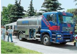 Польская компания Romex привезла на выставку автоцистерну-молоковоз на шасси MAN TGA.
