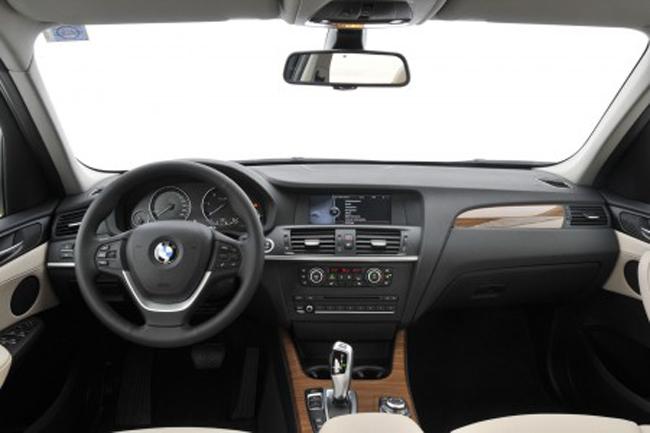 салон интерьера BMW X3