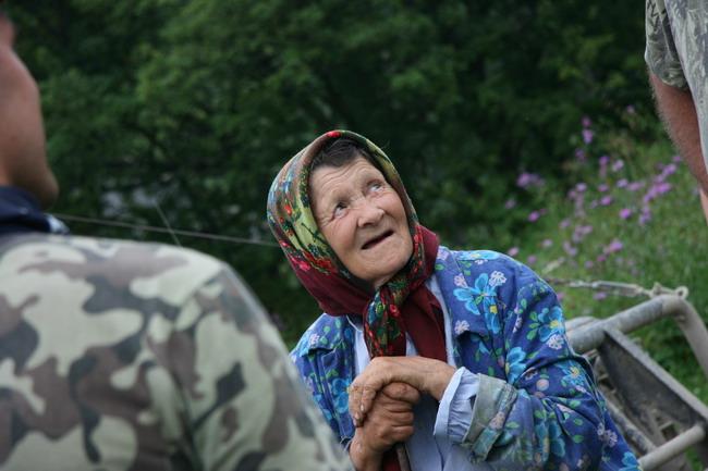 В большинстве сел население в основном состоит из стариков.