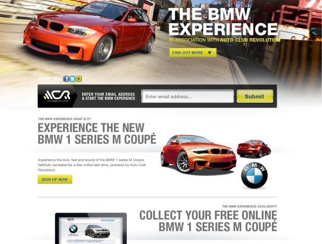 новая онлайн-игра BMW