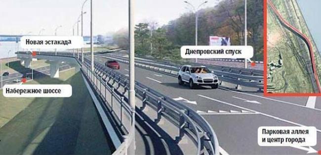 новая эстакада в Киеве
