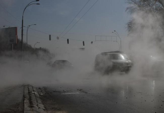 В Киеве провалилась дорога