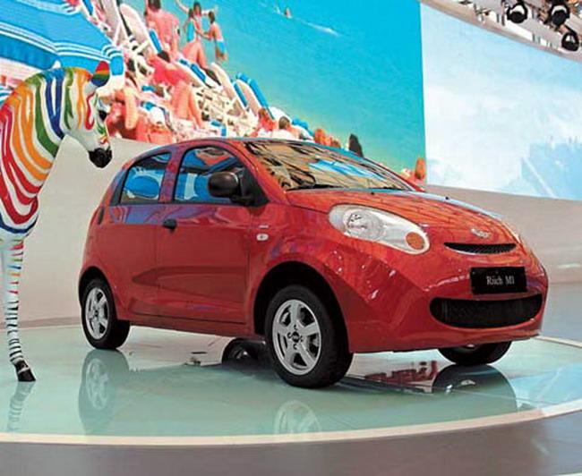 Столичное автошоу 2011: презентация электромобиля Сhery M1