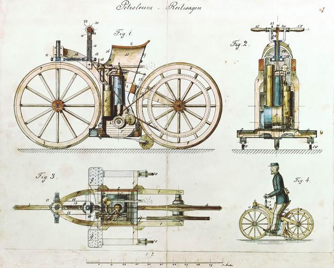 Первый мотоцикл в мире