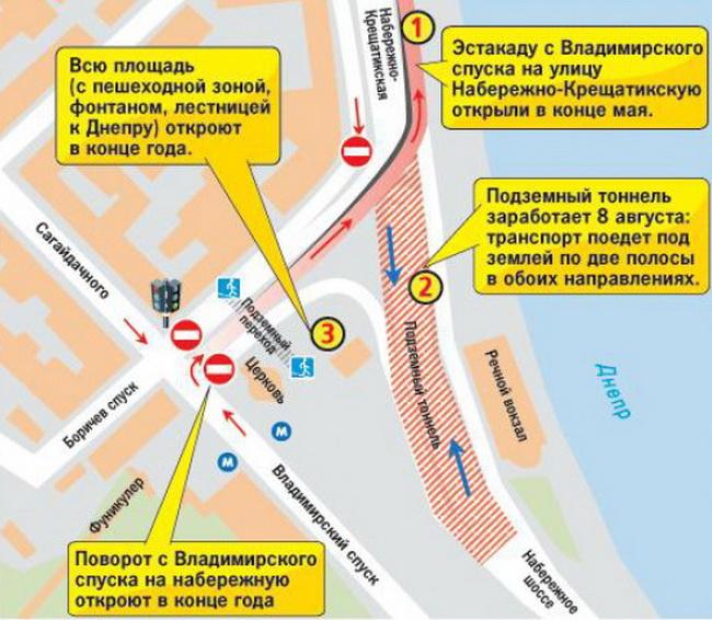 Часть тоннеля на Почтовой площади