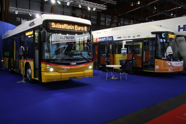 низкопольный автобус Swiss Alpin экологического стандарта Евро 6