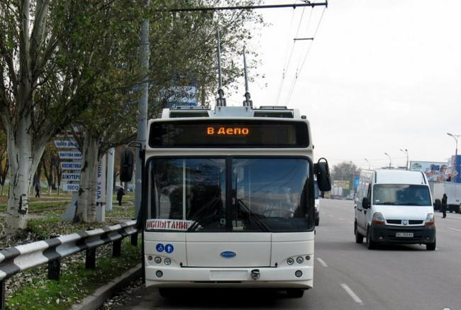 троллейбус украинского производства «Днипро» Т-103