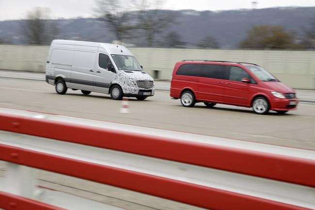Фургоны Mercedes-Benz: новые системы безопасности