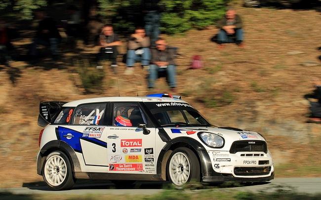 При поддержке Французской Автомобильной Федерации, Кампана вновь выступал на новейшей Mini WRC, но уступил Танаку даже после прокола у эстонца!