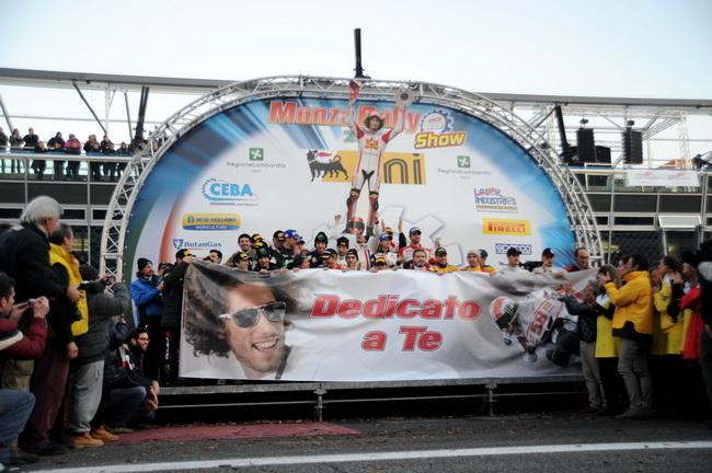 Монца Ралли Шоу-2011 было посвящено погибшему Марко Симончелли, который дважды стартовал тут, был 7-м и собирался побороться и в этом году...