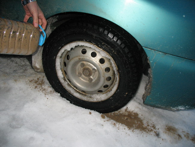 Если машина буксует на льду