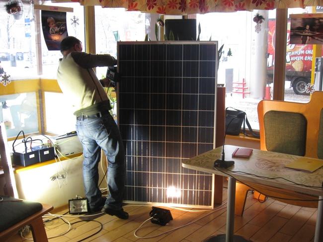 Сеть АЗС КЛО использует солнечные батареи
