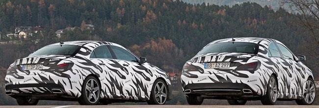 прототипы Mercedes CLA 45 AMG и Mercedes CLA