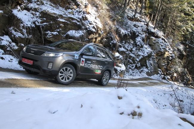 Kia Sorento опробовал снег в Буковеле