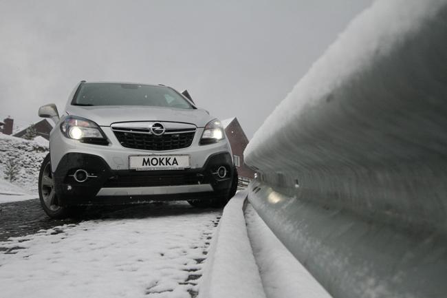 Opel Mokka опробовал снег в Буковеле